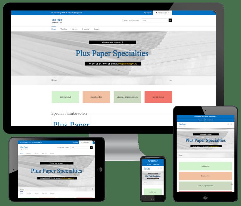 WordPress webshop voor pluspaper.nl
