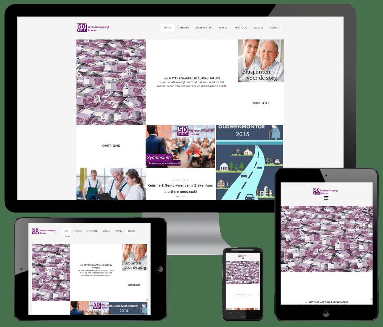 WordPress website voor het Wetenschappelijk Bureau 50Plus